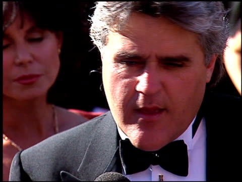 jay leno at the 1996 emmy awards arrivals at the pasadena civic auditorium in pasadena, california on september 8, 1996. - pasadena civic auditorium stock videos & royalty-free footage
