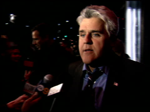 jay leno at the billy crystal 700 sundays at wilshire theatre in beverly hills, california on january 12, 2006. - tv司会 ジェイ・レノ点の映像素材/bロール