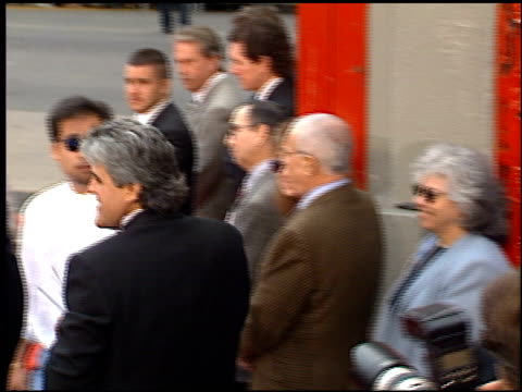 jay leno at the dedication of jim carrey's footprints at grauman's chinese theatre in hollywood california on november 2 1995 - mann theaters video stock e b–roll
