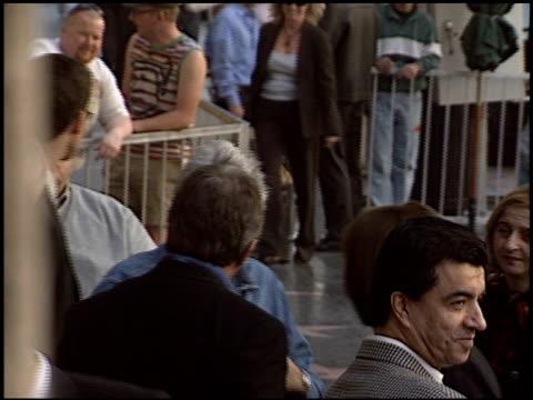 jay leno at the dedication of tim allen's hollywood walk of fame star at hollywood boulevard in hollywood, california on november 19, 2004. - tv司会 ジェイ・レノ点の映像素材/bロール