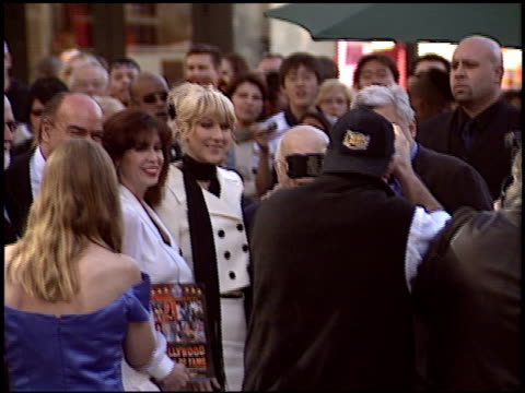 jay leno at the dediction of celine dion's walk of fame star at the hollywood walk of fame in hollywood, california on january 6, 2004. - tv司会 ジェイ・レノ点の映像素材/bロール