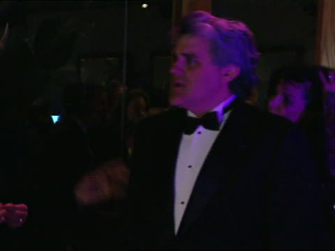 jay leno smiles into camera on red carpet - 69th annual academy awards stock videos and b-roll footage