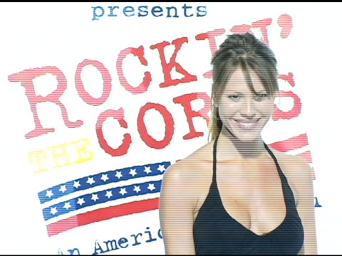 jay mohr and nikki cox at the rockin' the corp an american thank you celebration concert for us marines at camp pendelton marine base in oceanside... - oceanside stock videos and b-roll footage