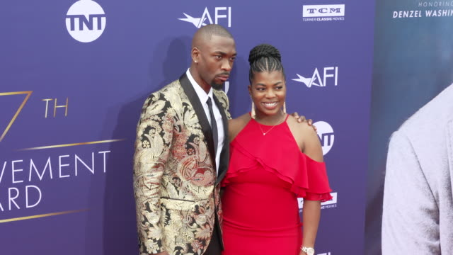jay pharoah and shaina farrow at the 2019 afi life achievement award gala honoring denzel washington at dolby theatre on june 06 2019 in hollywood... - jay pharoah stock videos and b-roll footage