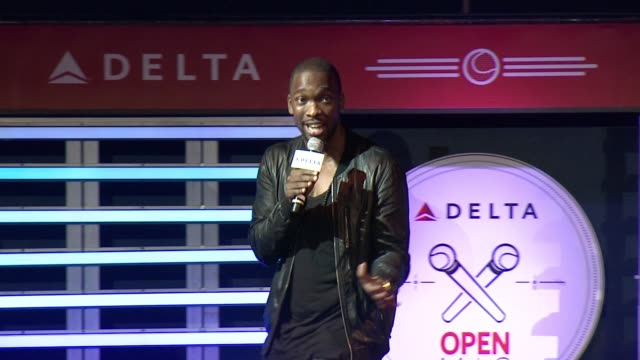 performance – jay pharoah at 2nd annual delta open mic with serena williams at arena event space on august 26 2015 in new york city - jay pharoah stock videos and b-roll footage