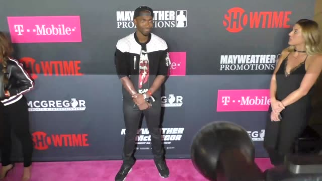 jay pharoah at the floyd mayweather jr vs conor mcgregor bout preevent vip party magenta carpet on august 26 2017 in las vegas nevada - jay pharoah stock videos and b-roll footage