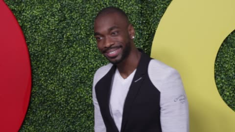 jay pharoah at the gq 2018 men of the year celebration at benedict estate on december 06, 2018 in beverly hills, california. - ジェイ・ファロー点の映像素材/bロール