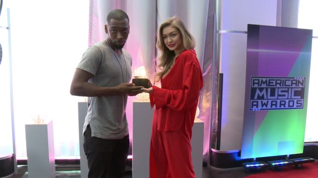 jay pharoah gigi hadid at 2016 american music awards rehearsals in los angeles ca - american music awards stock videos and b-roll footage