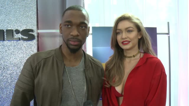 interview jay pharoah gigi hadid on the upcoming event at 2016 american music awards rehearsals in los angeles ca - jay pharoah stock videos and b-roll footage