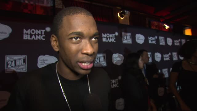 interview jay pharoah on his performance at american airlines theatre on november 17 2014 in new york city - jay pharoah stock videos and b-roll footage
