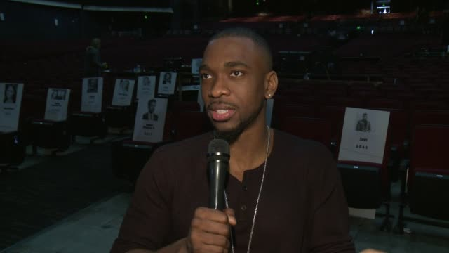 interview jay pharoah on hosting this years amas with gigi hadid what fans can expect to see sunday if fans can expect any new impressions and what... - musical theater stock videos and b-roll footage