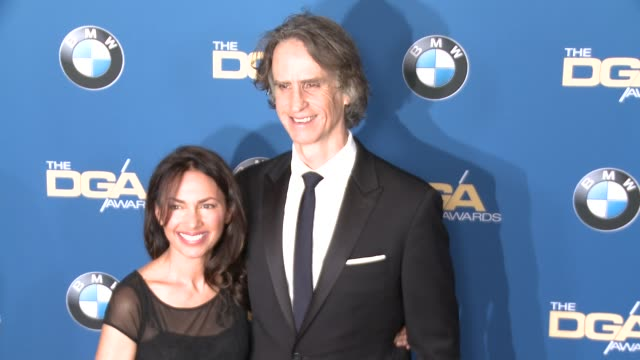 jay roach susanna hoffs at 69th annual directors guild of america awards in los angeles ca - directors guild of america awards stock videos & royalty-free footage