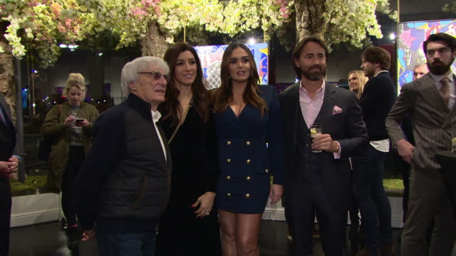 jay rutland, tamara ecclestone, bernie ecclestone at 'a new optimism' by dan baldwin private view at maddox gallery on march 15, 2018 in london,... - bernie ecclestone stock videos & royalty-free footage