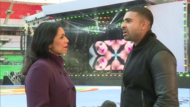 London Wembley Stadium EXT Jay Sean interview SOT