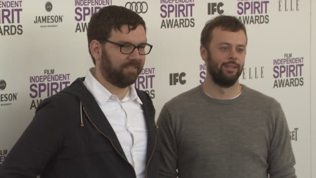 jay van hoy and lars knudsen at 2012 film independent spirit awards - arrivals on 2/25/2012 in santa monica, ca. - independent feature project stock videos & royalty-free footage