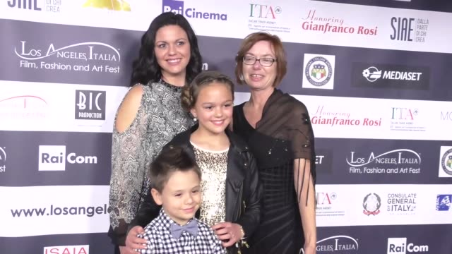 jayden cochran grace townsend sarah wood and june wayland at the 12th edition of the los angeles italia film fashion and art fest at tcl chinese 6... - anmut stock-videos und b-roll-filmmaterial