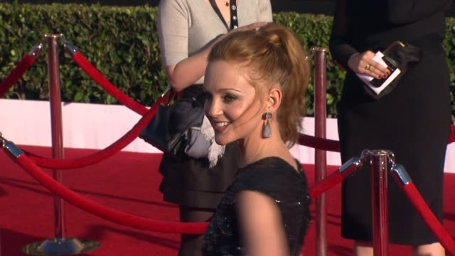 jayma mays at 18th annual screen actors guild awards arrivals on 1/29/2012 in los angeles ca - jayma mays stock videos and b-roll footage