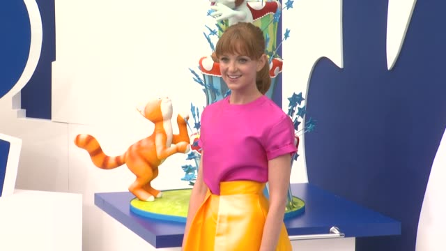 jayma mays at 'smurfs 2' los angeles premiere on 7/28/2013 in westwood ca - jayma mays stock videos and b-roll footage