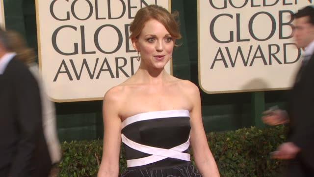 jayma mays at the 67th annual golden globe awards arrivals part 3 at beverly hills ca - jayma mays stock videos and b-roll footage