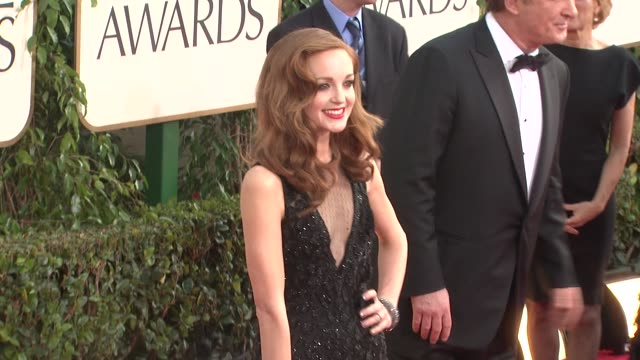 jayma mays at the 68th annual golden globe awards arrivals at beverly hills ca - jayma mays stock videos and b-roll footage