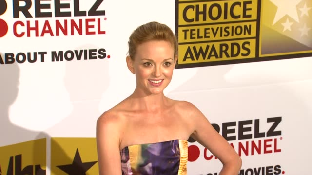 jayma mays at the critics' choice television awards luncheon at beverly hills ca - jayma mays stock videos and b-roll footage