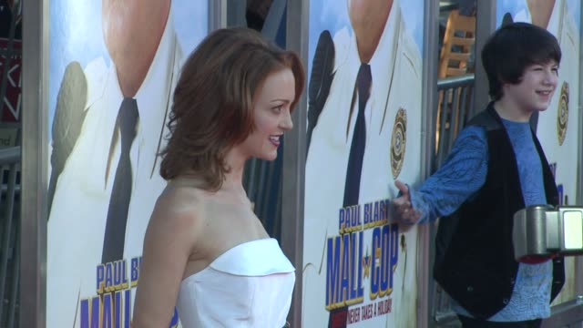 jayma mays at the 'paul blart mall cop' premiere at los angeles ca - jayma mays stock videos and b-roll footage