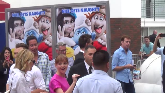 jayma mays at the 'smurfs 2' premiere in westwood jayma mays at the 'smurfs 2' premiere in westwood on july 28 2013 in los angeles california - jayma mays stock videos and b-roll footage