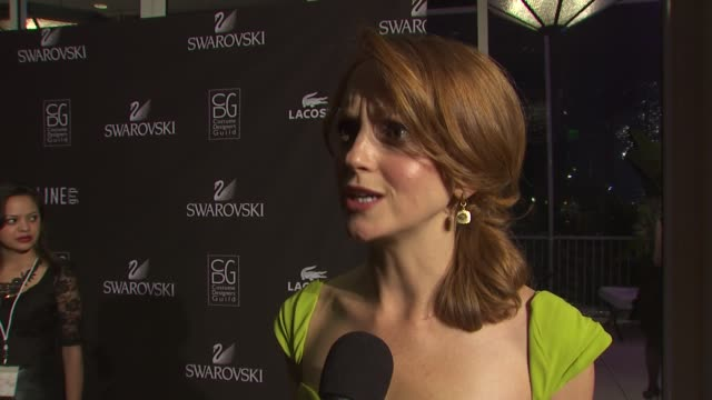 jayma mays on presenting at tonight's event on if it was difficult dressing for tonight's event knowing she'd be surrounded by costume designers on... - jayma mays stock videos and b-roll footage