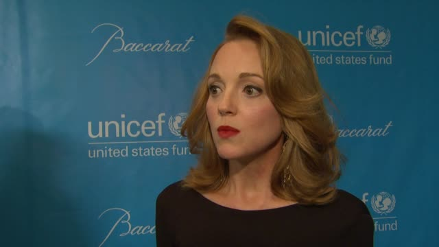 jayma mays on unicef at 2011 unicef ball presented by baccarat in los angeles ca - jayma mays stock videos and b-roll footage