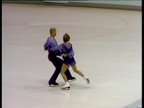 jayne torvill and christopher dean perform 'bolero', british ice dance championships, nottingham; nov 83 - expertise stock videos & royalty-free footage