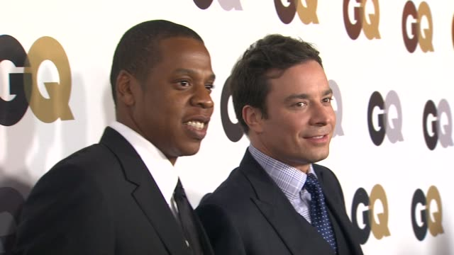 jayz jimmy fallon at the gq's 2011 'men of the year' party at los angeles ca - jimmy fallon stock videos and b-roll footage