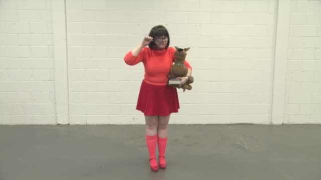 Jaz Cook as Scooby Doo's Velma at London Film Comic Con on July 29 2016 in London England