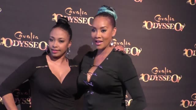 Jazsmin Lewis and Vivica A Fox at the premiere of Cavalia's Odysseo at the White Big Top in Irvine at Celebrity Sightings in Los Angeles on February...
