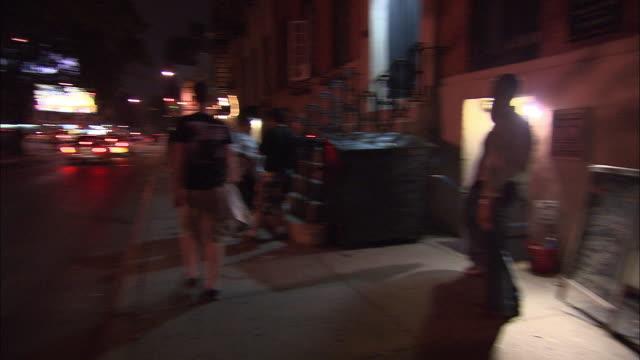 ms, pan, jazz bar exterior at night, new york city, new york, usa - jazz music stock videos and b-roll footage