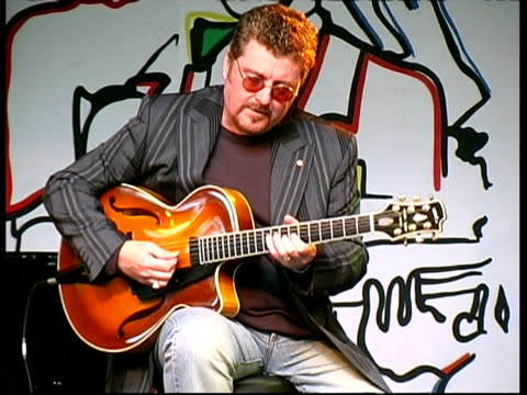 jazz guitarist martin taylor performing, france - guitarist stock videos & royalty-free footage
