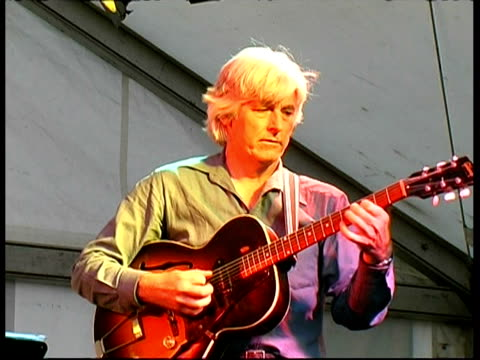 jazz guitarist nils solberg performing, great britain - rhythm stock videos and b-roll footage