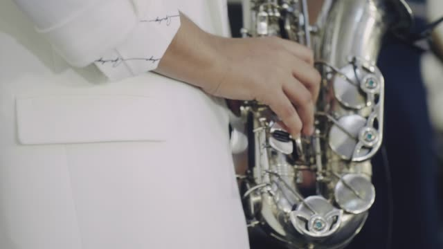 jazz saxophone players - saxophone stock videos & royalty-free footage