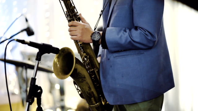 jazz saxophone players - saxophone stock videos and b-roll footage