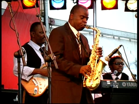 jazz saxophonist maceo parker performing, great britain - jazz stock videos & royalty-free footage