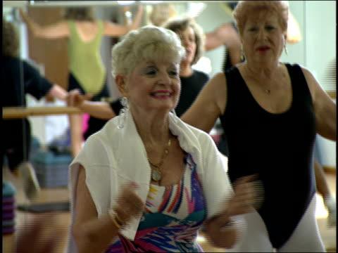 jazzercise class in miami, florida - aerobics stock videos & royalty-free footage