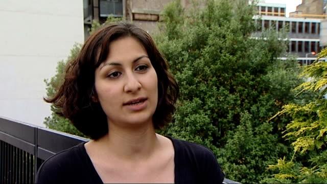 police officer cleared of deceiving inquest england london ext yasmin khan interview sot - jean charles de menezes bildbanksvideor och videomaterial från bakom kulisserna