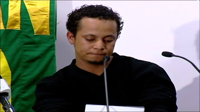 report findings london int allesandro pareira press conference sot unbelievable blair did not know / he must have known / if he knew he lied if he... - jean charles de menezes bildbanksvideor och videomaterial från bakom kulisserna