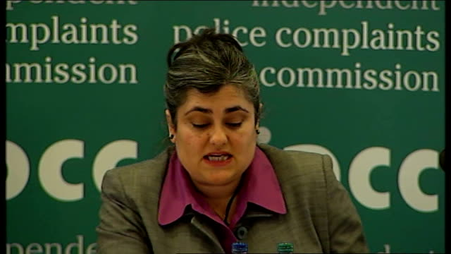 report findings naseem malik press conference sot - jean charles de menezes bildbanksvideor och videomaterial från bakom kulisserna