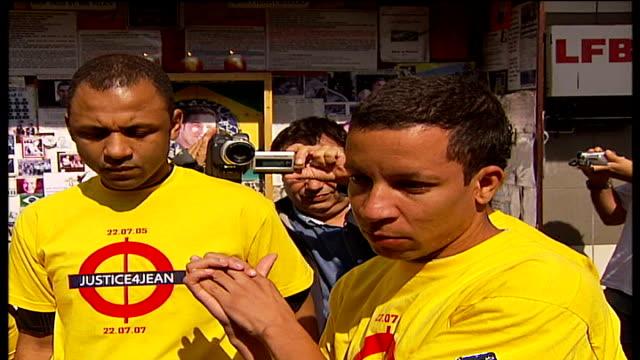 two year anniversary alex pereira interview sot - jean charles de menezes bildbanksvideor och videomaterial från bakom kulisserna
