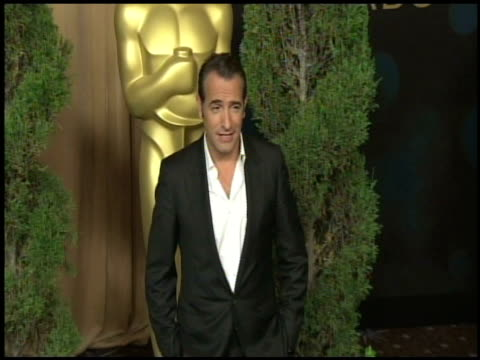 jean dujardin at the 84th academy awards nominations luncheon in beverly hills ca on 2/6/12 - jean dujardin stock videos and b-roll footage