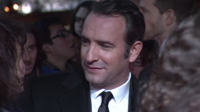 jean dujardin on red carpet at 32nd london critics' circle film awards 2012 red carpet arrivals at bfi southbank on january 19 2012 in london england - jean dujardin stock videos and b-roll footage