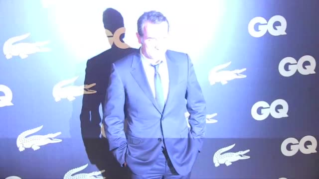 jean dujardin the artist recent golden globe winner was awarded man of the year at the 2012 gq party taking place at the ritz hotel in paris jean... - jean dujardin stock videos and b-roll footage