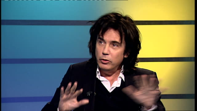 vídeos de stock e filmes b-roll de jean michel jarre to play in concert at wembley arena jean michel jarre studio interview sot on his forthcoming tour / on his family background - wembley arena