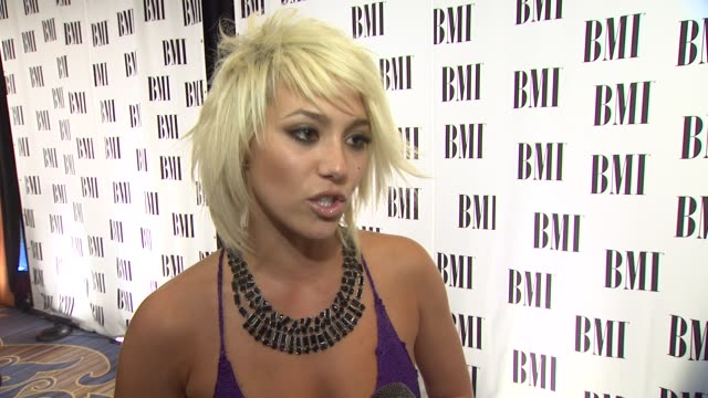 Jean on the event songwritersher songs at the 59th Annual BMI Pop Awards at Beverly Hills CA