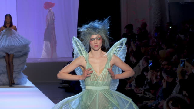 jean paul gaultier at paris fashion week haute couture s/s 2019 - jean paul gaultier on january 23, 2019 in paris, france. - fashion show stock videos & royalty-free footage